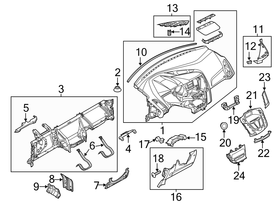 Ford Focus Dashboard Panel. Instrument, Gauges, Make