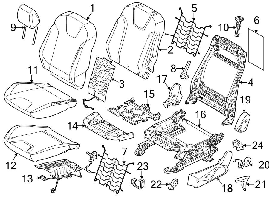 2012 Ford Focus Seat Track. 2012-14, w/power. W/O RECARO