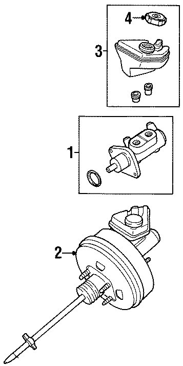 Ford Contour Brake Master Cylinder. ABS, Leak, Repair