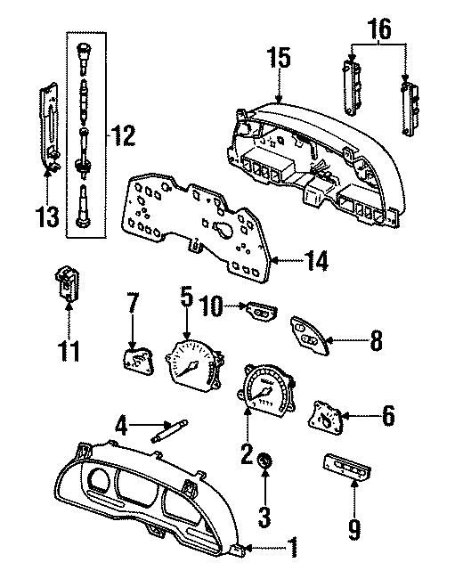 Ford Contour Speed sensor. INSTRUMENT, PANEL, GAUGES, Body