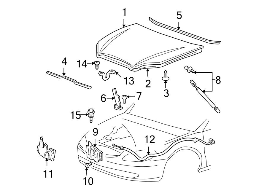 Ford Taurus Hood Insulation Pad. Hood Insulation Pad