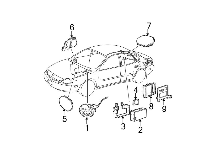 Ford Taurus Radio Control Unit. Manual temp control, w