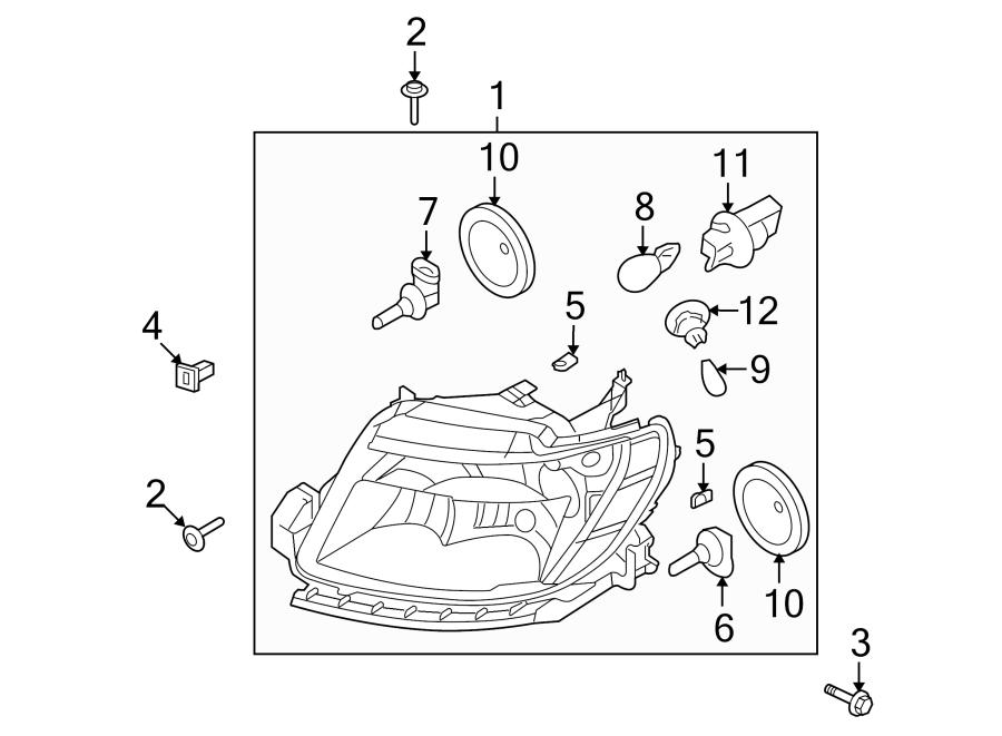Ford Taurus Socket. Bulb. Lamp. Signal. COMPOSITE. Marker