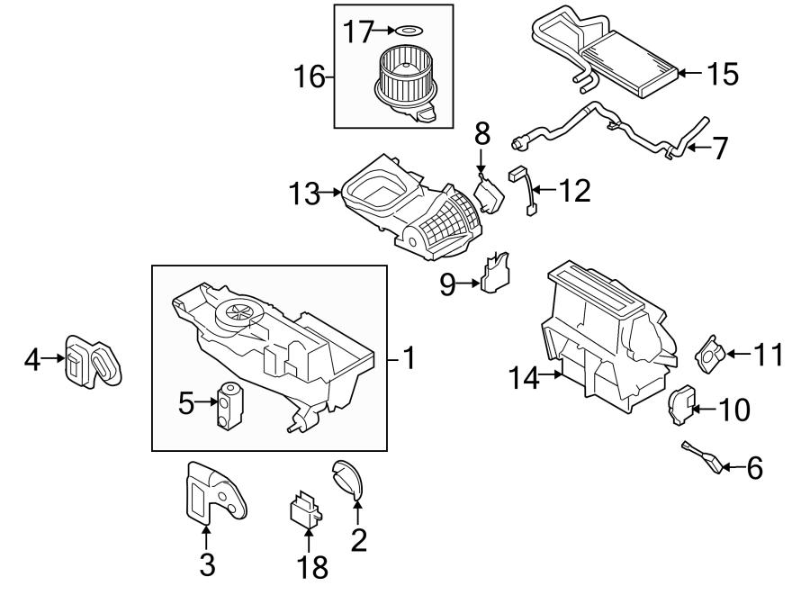 2009 Ford Taurus Hvac air inlet housing (upper). Auto