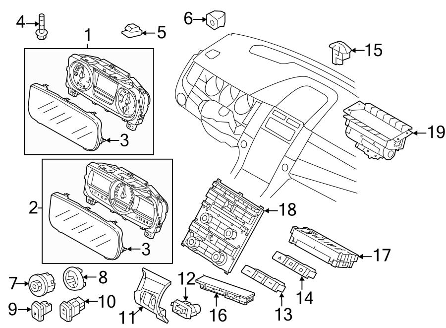 2013 Ford Taurus Cabin Air Temperature Sensor