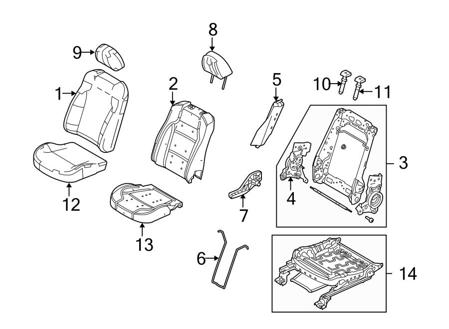 2012 Ford Taurus Headrest. SEAT, INTERCEPTOR, COMPONENTS