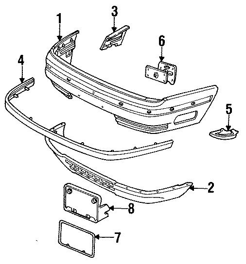 Ford Taurus Filler. 1986-88 W/O SHO, 1986-88 W/O SHO