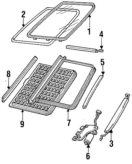 Ford Thunderbird Glass ASSEMBLY seal. Weatherstrip. SEDAN