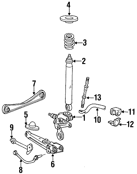 Ford Taurus Stabilizer bar insulator. STATION WAGON
