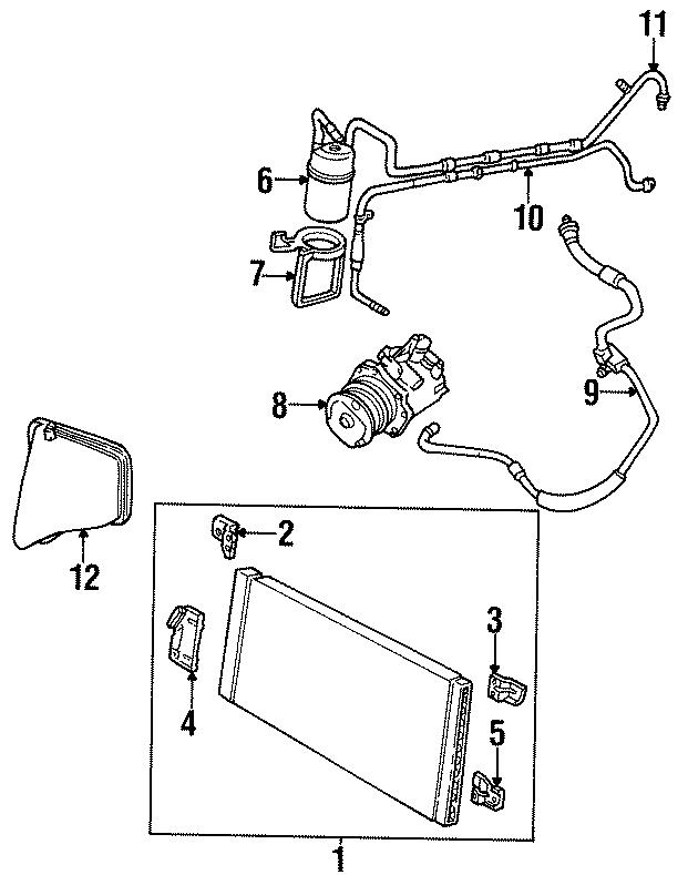 Ford Taurus Hose. 3.4 liter, condenser to evaporator