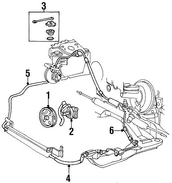 Ford Taurus Upper return hose. 3.4 liter. Steering