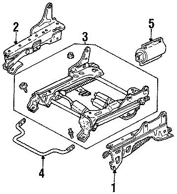 Ford Taurus Seat track. Six way. TRACKS, SEATS, Right
