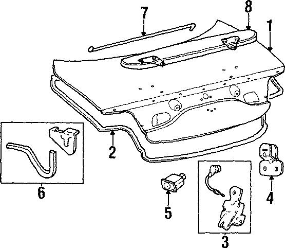 Ford Taurus Trunk lid. G, GL & LX. SE, w/o spoiler