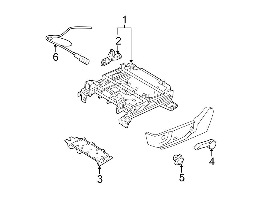 Ford Fusion Adjuster. Track assy. Left; driver side power
