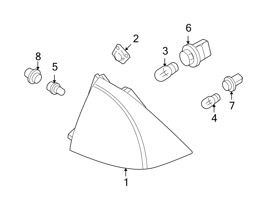 Ford Fusion Socket. Bulb. Lamp. Light. Marker. Leftside