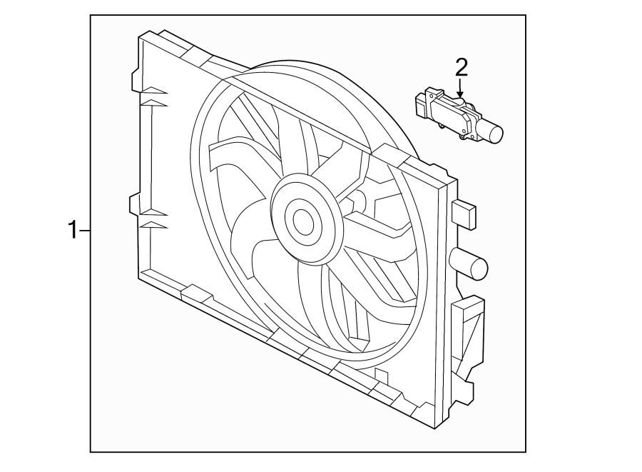 Ford Fusion Engine Cooling Fan Assembly. MOTOR AND FAN