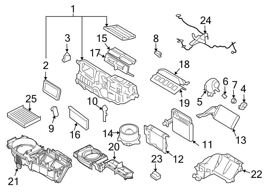 Ford Fusion Evaporator case. W/DUAL AC; W/O DUAL AC