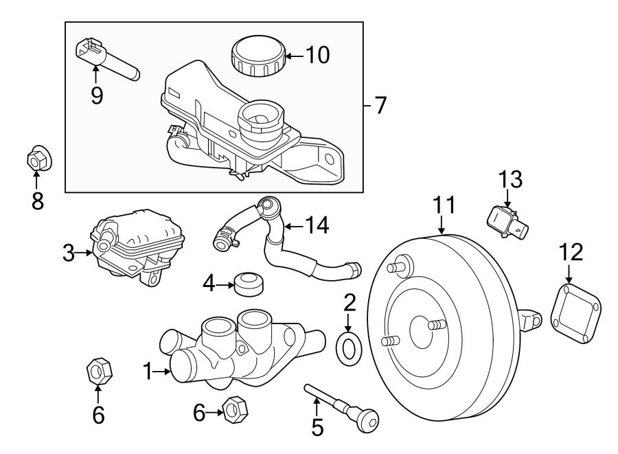 Ford Fusion Brake Master Cylinder. Cylinder. Master