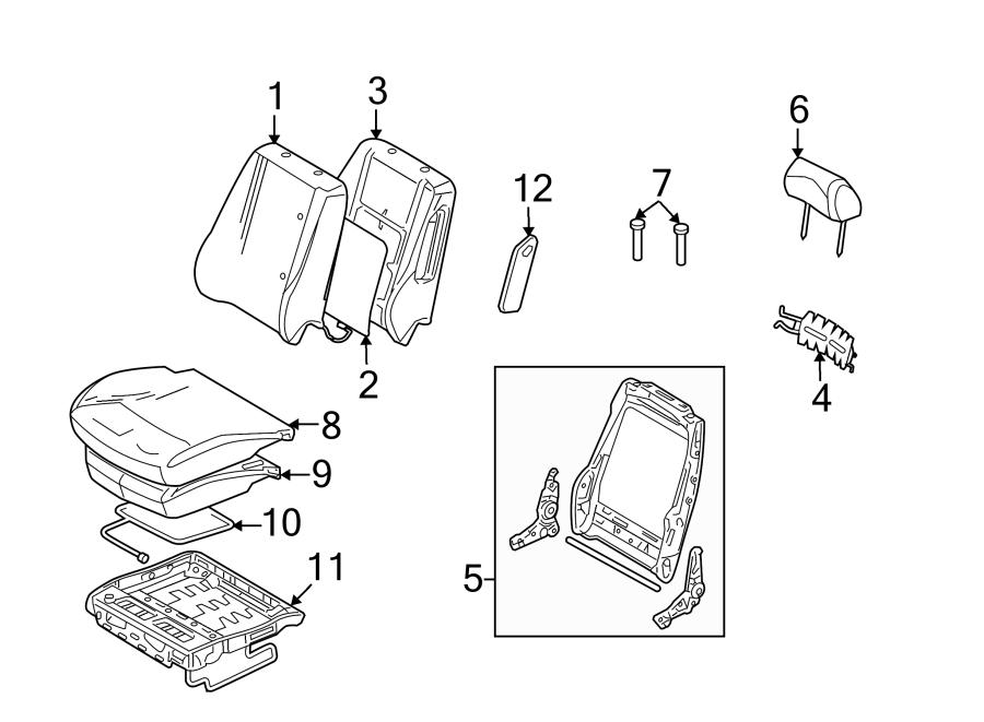 Ford Fusion Seat Heater Pad. FOLD, FLAT, PASSENGER