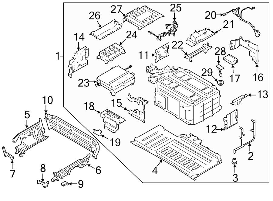 Ford Fusion Hybrid Voltage Converter. HIGH, ENERGI
