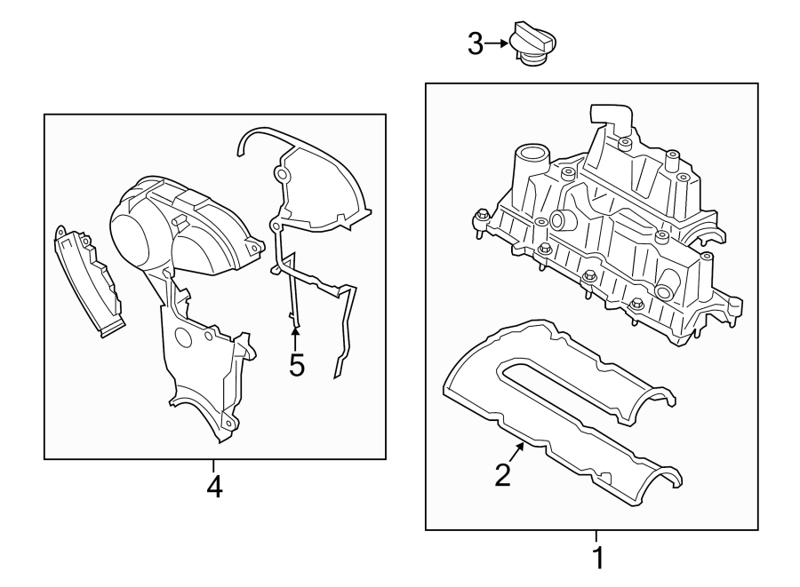 Ford Fusion Engine Valve Cover. LITER, TIMING, Connect