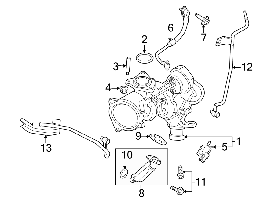 Ford Fusion Turbocharger. Kit. Actuating. Solenoid. LITER