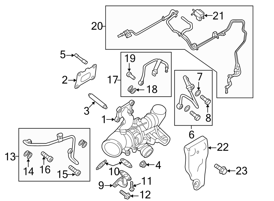 Ford Fusion Vacuum Line. LITER, ENGINE, COMPONENTS
