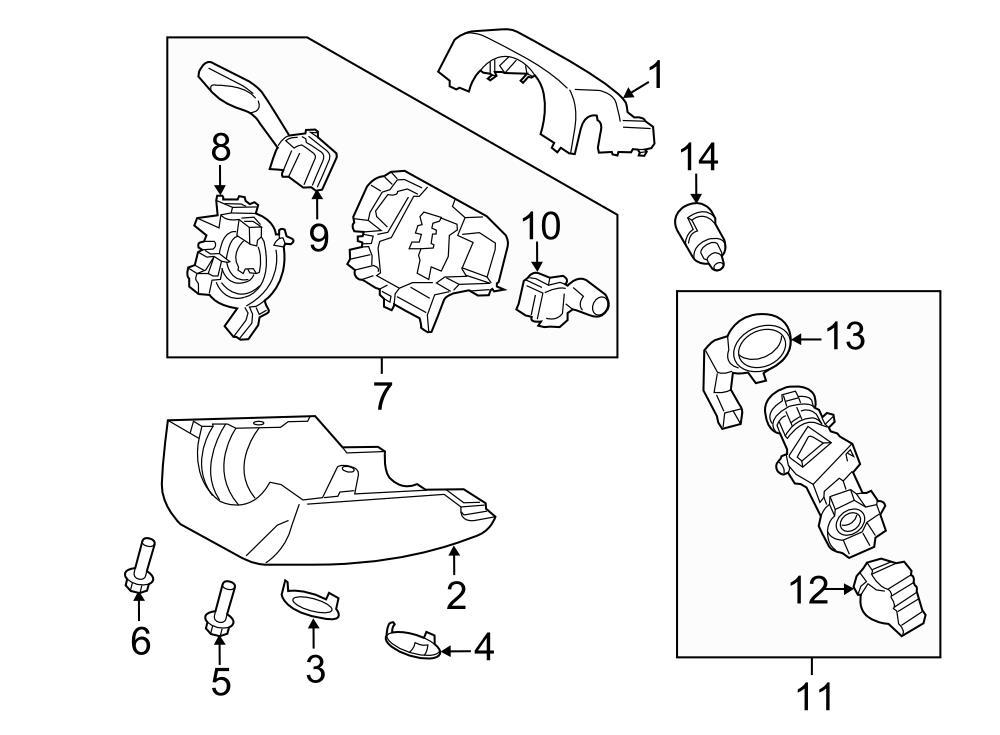 2014 Ford Fusion Cyl & keys. Ignition cyl. IGNITION LOCK