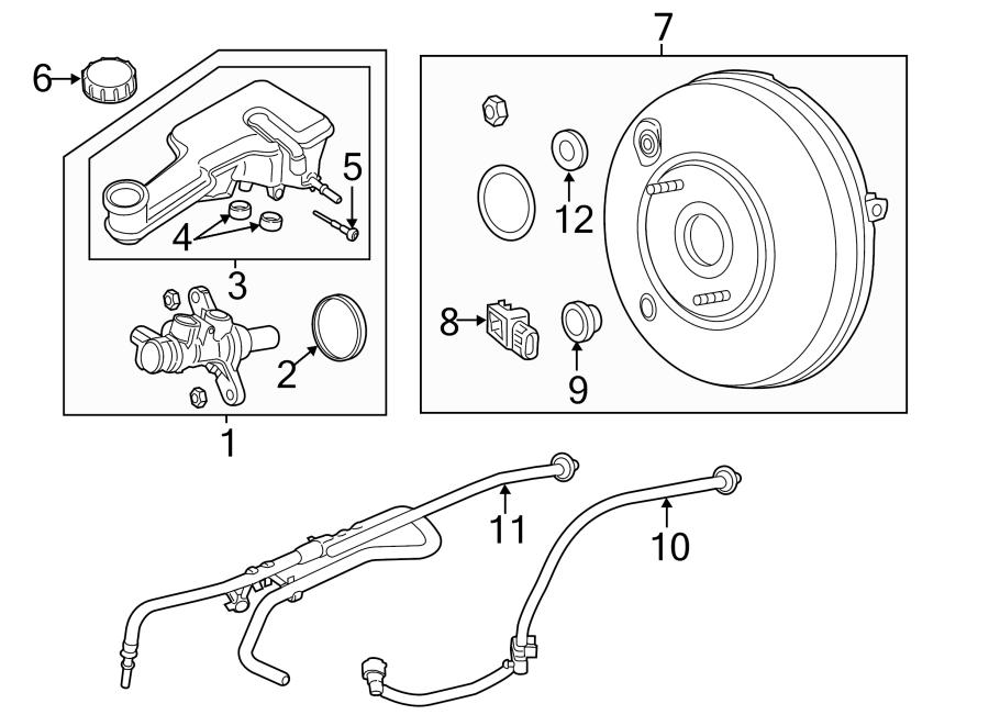 2017 Ford Fusion Cylinder. Master. Brake. Kit. Mount