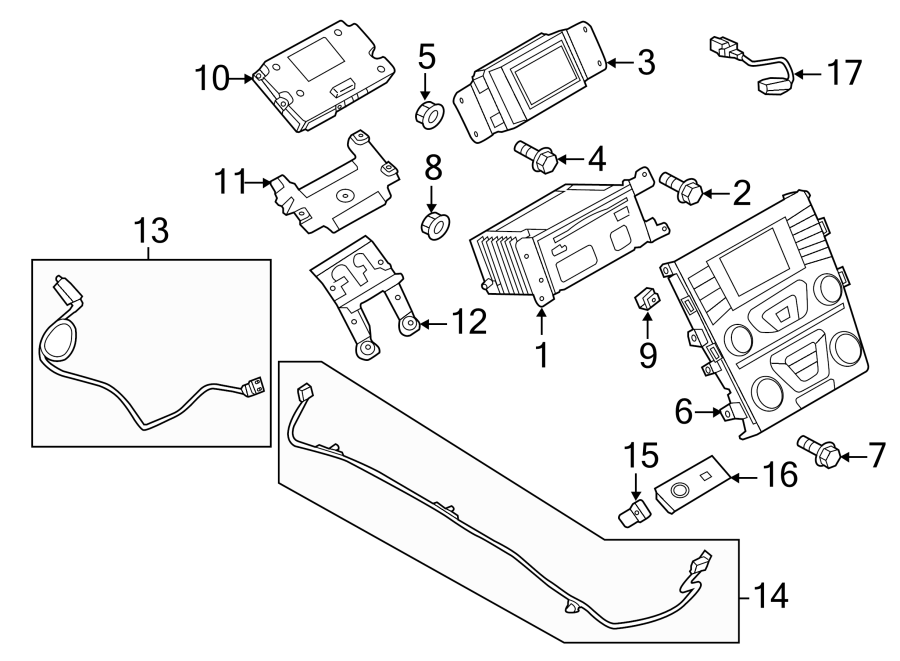 Ford Fusion Audio Auxiliary Jack. RECIEVER, CompartmentS