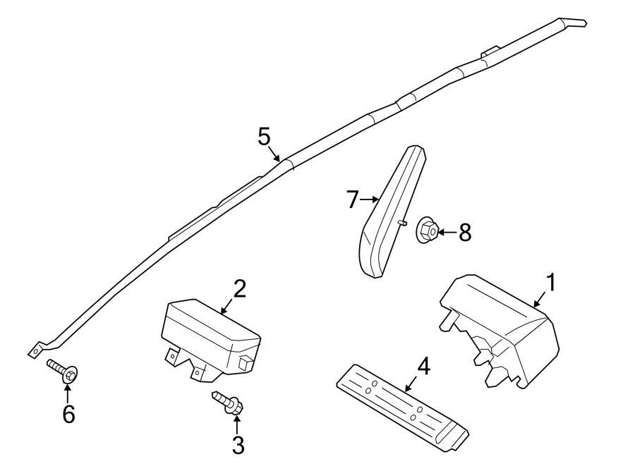 2015 Ford Fusion Head air bag screw. Psngr air bag screw