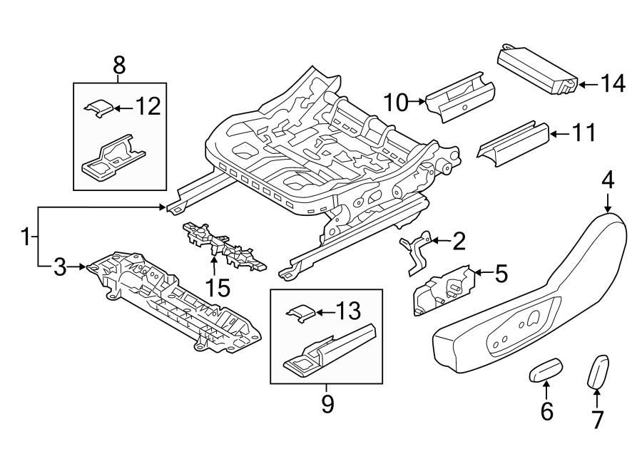 Ford Fusion Adjust motor. Motor. Motor assy. SEAT, DRIVER