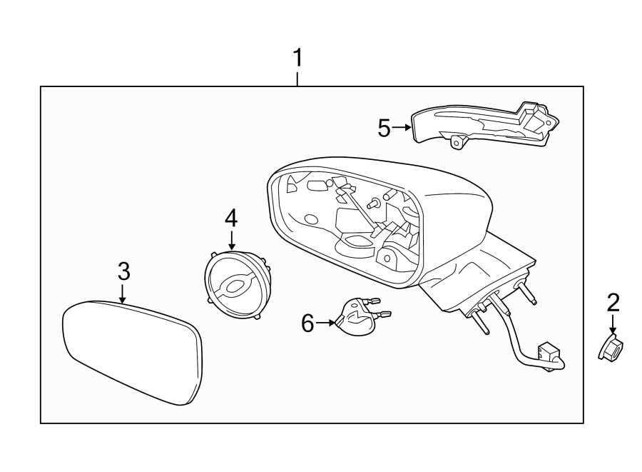 Ford Fusion Lamp assembly. Signal lamp. Turn signal light