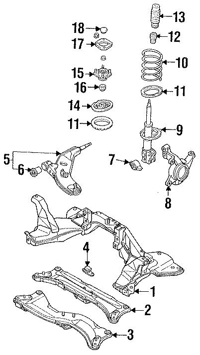 Ford Probe Spring insulator. Probe; Upper. Upper