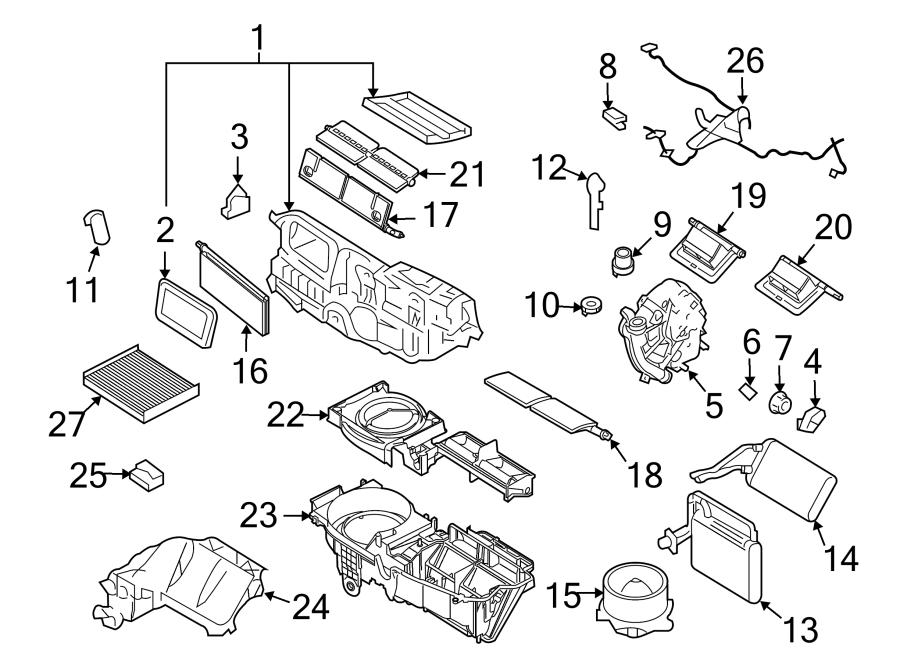 Ford Fusion Control. Module. HVAC. AIR, HEATER