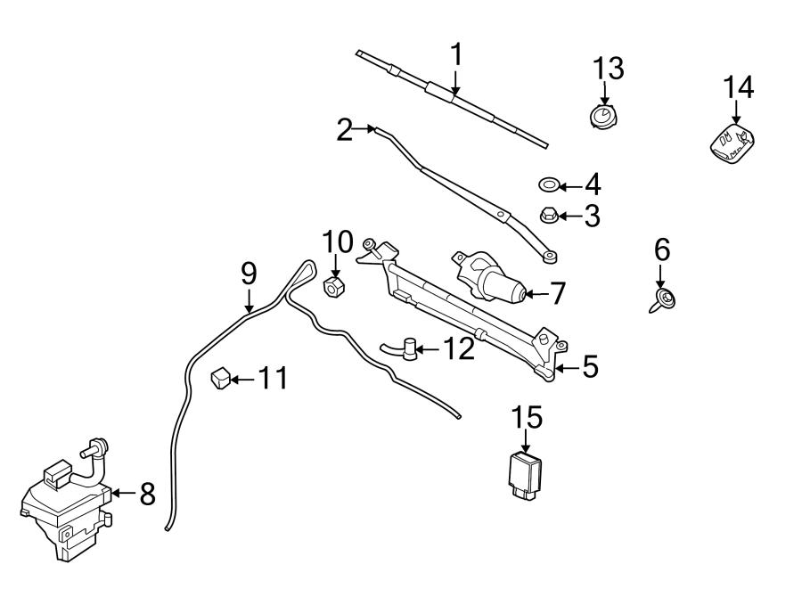 2010 Ford Fusion Wiper Motor Pulse Board Module. Speed