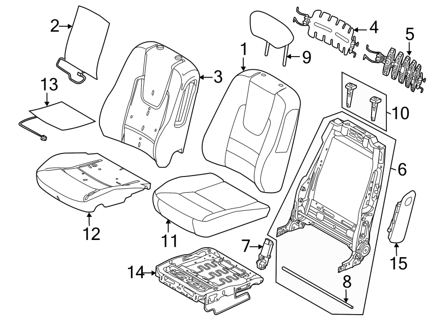 2012 Ford Fusion Support. Lumbar. ADJUSTER. Seat. Cushion