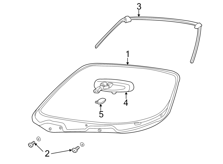 2005 Ford Thunderbird Windshield Frame Weatherstrip Seal