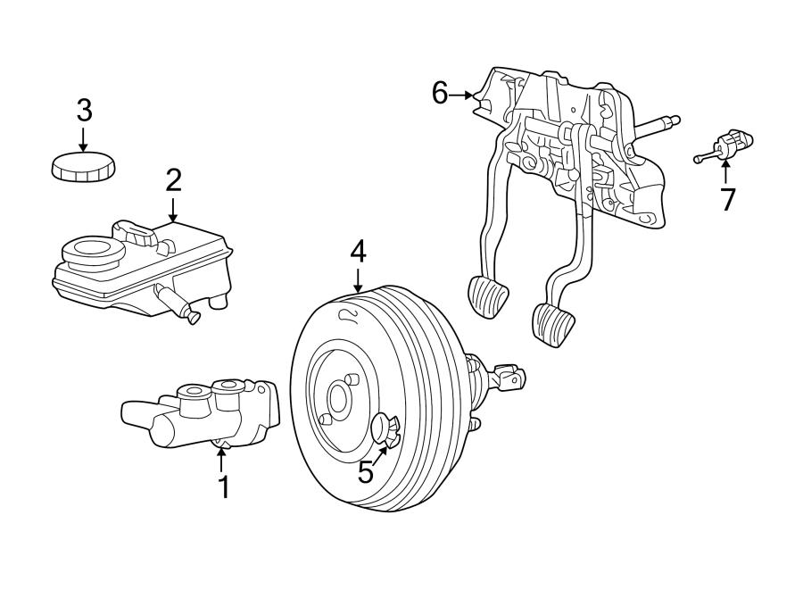 2004 Ford Thunderbird Master cylinder. Exc.Interactive