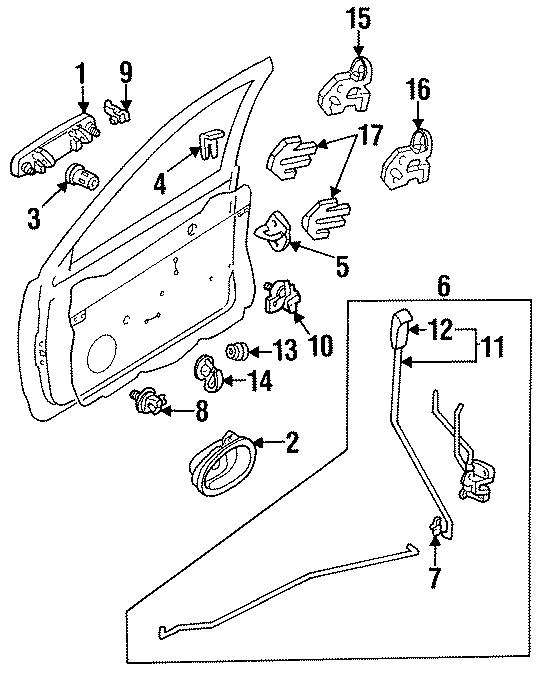 Ford Aspire Hole plug. 3 DOOR. 5 DOOR. LOCK, REAR, FRONT