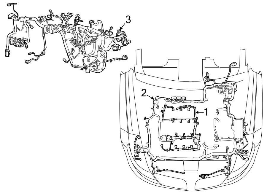 2013 Ford Taurus Engine harness. Engine Wiring Harness