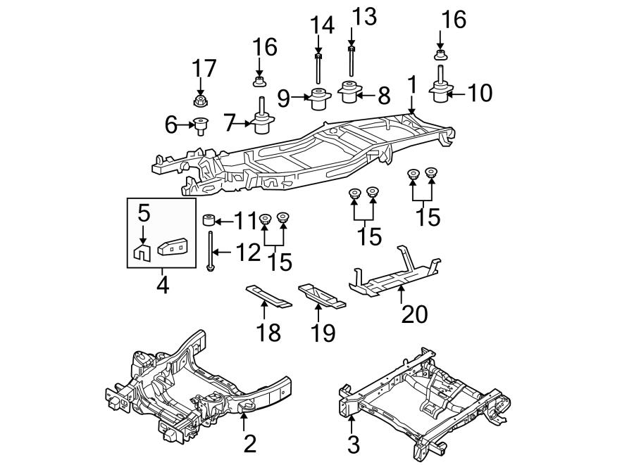 2004 Ford F-150 Repair kit. FRAME, OEM, Front, COMPONENTS