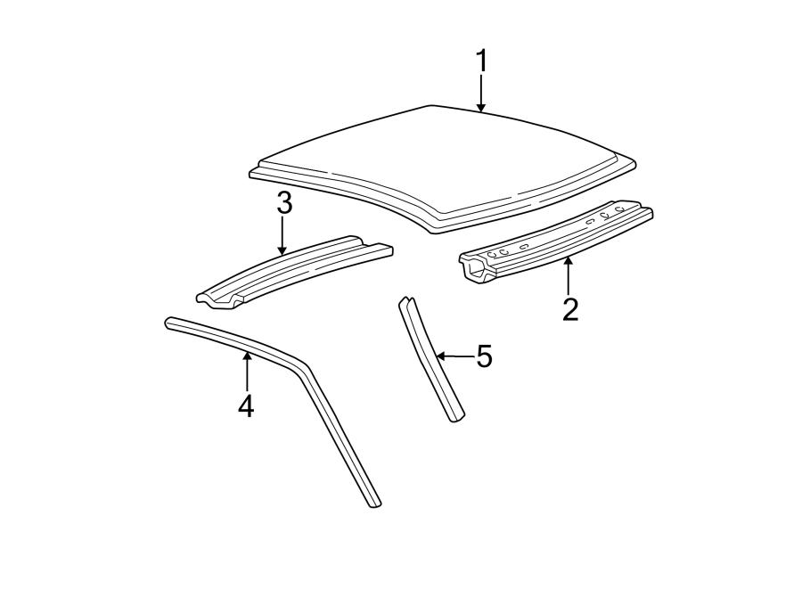 Ford F-150 Roof Drip Molding. REGULAR CAB. SUPER CAB