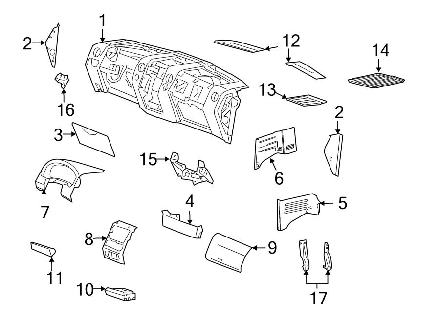 2007 Ford F-150 Instrument Cluster Bezel. W/adjustable