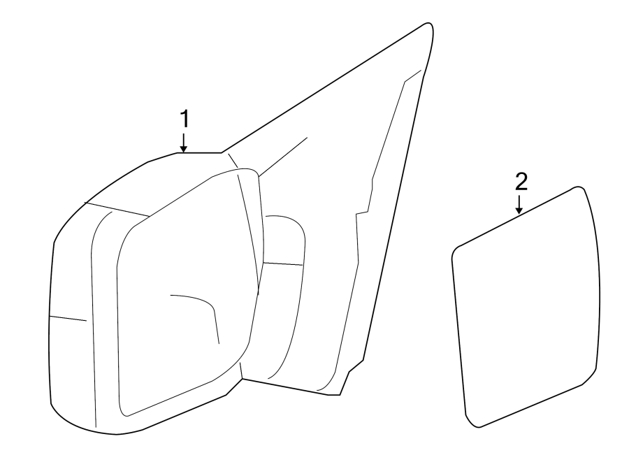Ford F-150 Door Mirror (Rear). Left, FRONT, Replace
