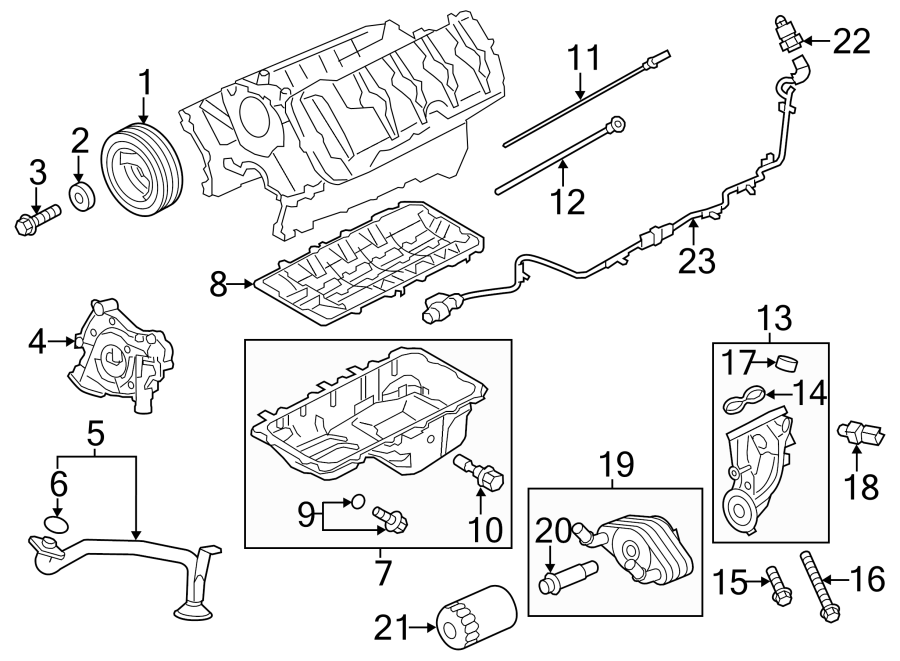Ford F-150 Engine Oil Level Sensor. LITER, WSUPERCHARGER