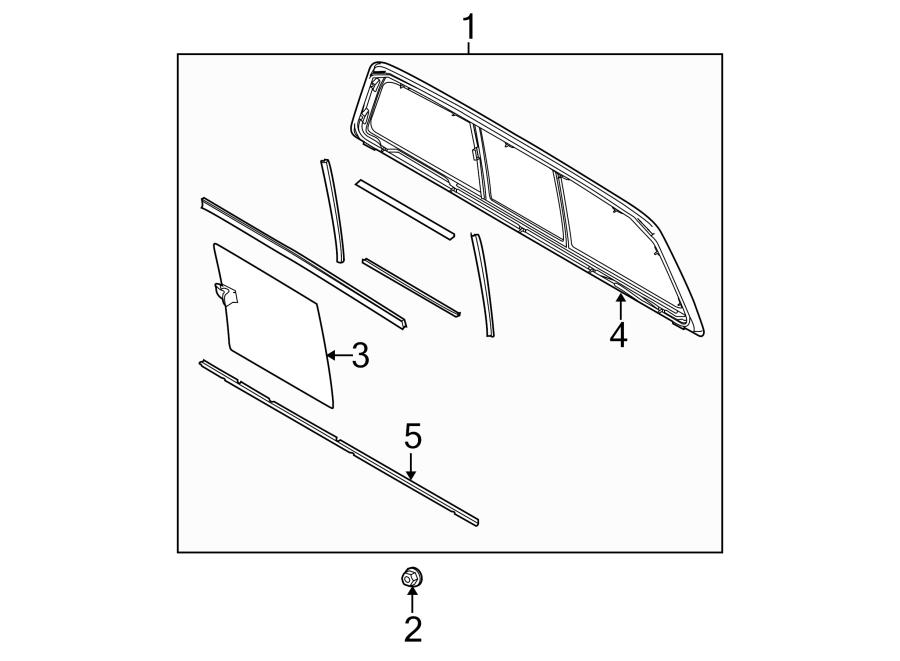 Ford F-150 Back Glass. SLIDING WINDOW, W/O POWER, FORD