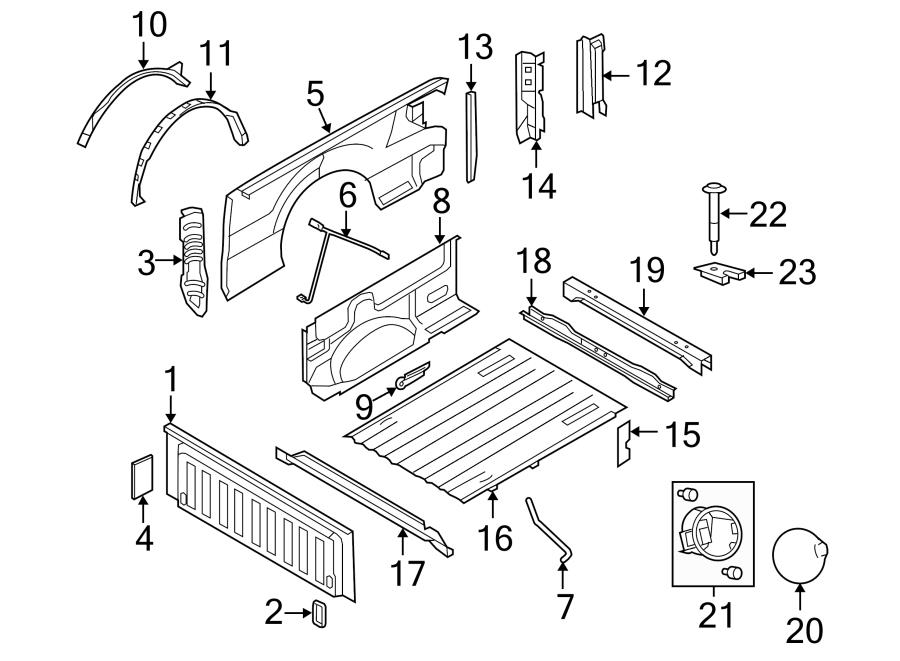 Ford F-150 Box assy mount bolt. Mount bolt. FOOT, OEM