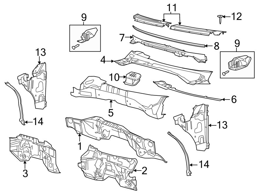 Ford F-150 Engine Compartment Insulation. CREW CAB, upper