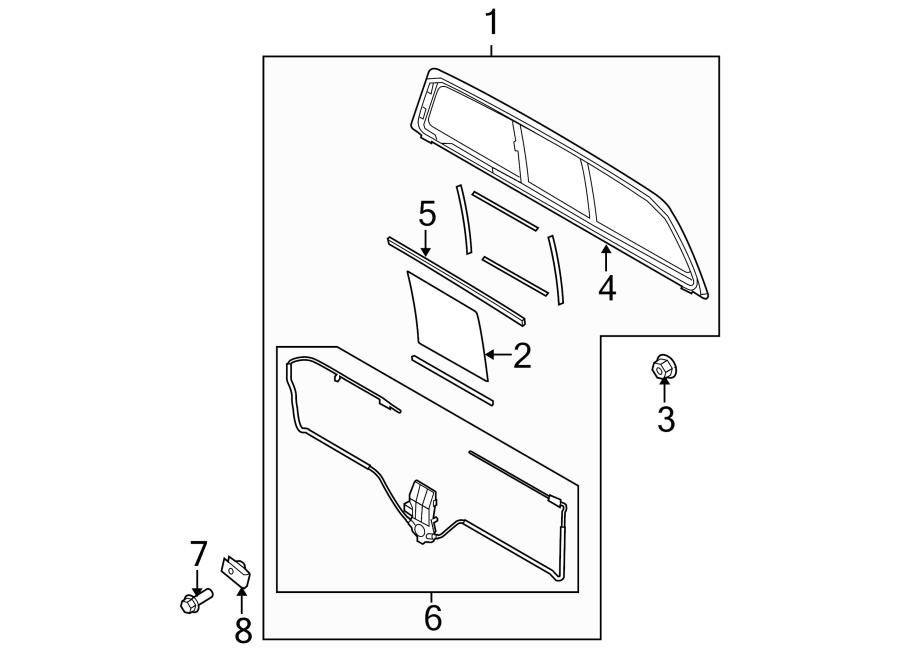 Ford F-150 Glass. SLIDING WINDOW, Ford. SLIDING WINDOW, W